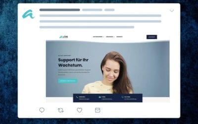 Neue Website von aLIVE Support ist online